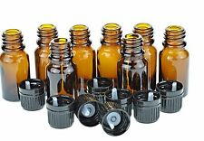 10 Ml Amber Glass Bottle W/euro Dropper. Black Cap. 24 Pack Free Shipping