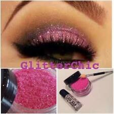 Glitter Eye Shadow Glitter Pink with Fix Gel and Application Wand 10g pot