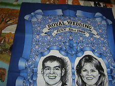 "£2.30  off  ""Royal Wedding"" Prince Andrew Tea Towels Souvenir Cotton Holidays"