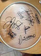 "New Kids On The Block Band Signed ALL 5 NKOTB  RARE AUTO #1 FAN 12"" Clear Drum"