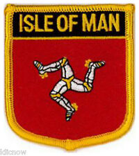 "Isle of Man (Shield) Embroidered Patch 6CM X 7CM (2 1/2"" X 2 3/4"")"