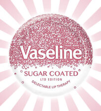 Vaseline Lip Therapy Sugar Coated LIMITED EDITION Pink Jar Moisturizing .77OZ