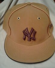 NEW ERA 59FIFTY FITTED NY NEW YORK YANKEES WHEAT SUEDE LEATHER CAP HAT SZ 7 1/2