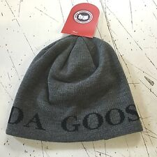 NEW CANADA GOOSE BOREAL BEANIE GRAPHITE HAT CAP MERINO WOOL HOLOGRAM LINED