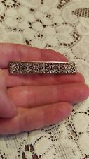 Antique Dutch 835 Silver Flower Filigree Bar Pin