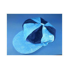 Sky Blue & Navy Flat Cap Novelty Jockey Fancy Dress Hat Horse Racing
