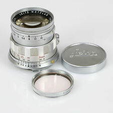 Leica 50mm f/2 Summicron Rigid Lens (Chrome - M Mount) ~