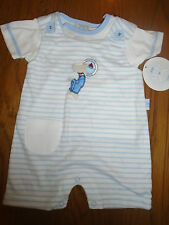 BNWT Mini Chic baby boy summer dungaree outfit. 0-3 months
