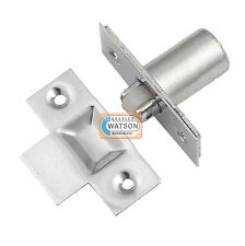 NICKEL Adjustable Roller Catch Mortice Door Spring Ball Latch & Strike Plate