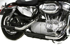BLACK SLASH CUT DRAG PIPE EXHAUST MUFFLER EXTENSIONS HARLEY SPORTSTER XL 2004-13
