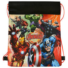 6pc AVENGERS Kids Sling Drawstring Bag Backpack BIRTHDAY TREAT BAGS PARTY FAVOR