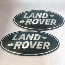NEW OEM LAND ROVER DISCOVERY 3 SUPERCHARGED GRILL & BOOT BADGE OVAL GREEN-SILVER