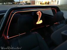NEW Ford Mustang 2005-2014 WIND RESTRICTOR wind blocker LED Lighted Accessory