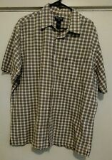Polo Jeans Company Ralph Lauren Checkered Short Sleeve Button Front Shirt Size L