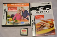 America's Test Kitchen Let's Get Cooking Nintendo DS Complete Case & Manual