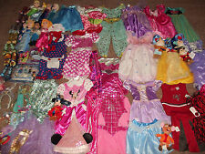 Huge 67pc Lot Girl's PRINCESS DRESS UP COSTUMES Shoes Accessories Sz 3-6 Disney+