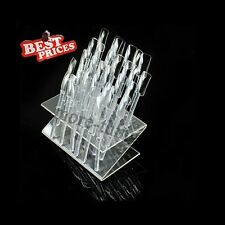 32 Tips Pop Sticks Nail Art Display Stand Practice Tool UV Gel Acrylic Tips Rack