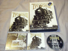 Railroad tycoon ii original big coffret 2000 sid meier's pc game très bon état