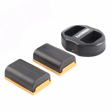 2 Replacement camera Battery LP-E6 for Canon 5D II III 6D 7D II 70D Dual charger
