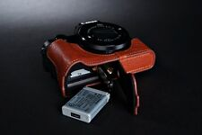 Genuine real Leather Half Camera Case bag cover for Canon G5X G5 X Bottom Open