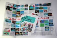 X5 Pezzi/Pieces: Original Poster / Catalog Sega Master System Games SMS Mark III