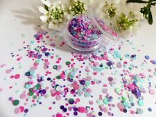 Arte en uñas Grueso * Carnaval * Púrpura Rosa Lunares Círculo Forma Brillo Spangle Mezclar Olla