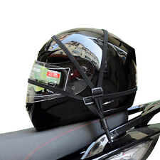 1PC Motorcycle Adjustable Cargo Helmet Luggage Sundries Net Holder With Buckles
