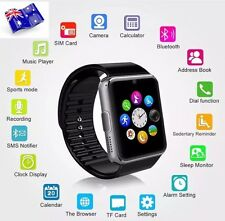 IPHONE SAMSUNG BLUETOOTH SMART WATCH WITH SIM CARD SLOT BLACK AND SILVER