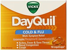 Vicks Dayquil Cold & Flu Relief LiquiCaps 16 Each