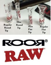 RAW Rolling Papers and ROOR Glass brand GLASS TIPS - ALL 4 STYLES REGULAR & SLIM