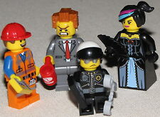 THE LEGO MOVIE 4 CHARACTERS EMMET PRESIDENT BUSINESS BAD COP WILD STYLE MINIFIG