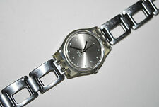 Vintage Swatch Watch LM-119 SILVER COBBLES Ladies 2001 Swiss Quartz Original