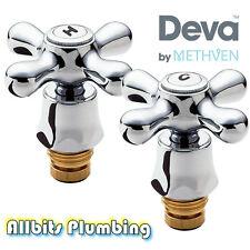 Deva chrome bassin robinets métal période style set pr tour complet kit de conversion