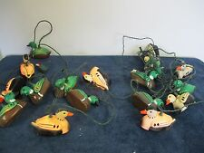 LIGHTED 10 STRING PARTY PATIO RV CAMPING LIGHTS DUCKS VINTAGE 2 STRANDS
