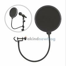 Double Layer Studio Microphone Mic Wind Screen Mask Gooseneck Shied Pop Filter