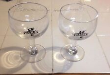 PAIR OF WINE GLASSES EXTRA LARGE SIZE CLEAR