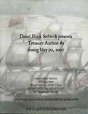Daniel Frank Sedwick Treasure Auction 1, May 2007, shipwreck treasure coins cobs