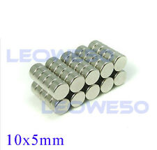 10 X Strong Round Cylinder Magnet 10mm x 5mm Rare Earth Neodymium No. 1707