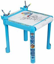 Paw Patrol Colouring Art Table With Accessories Crayons Markers & Paper Roll