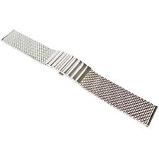 18mm Staib Mesh SHORT 130mm Polished Stainless Steel German Watch Band Bracelet