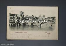 Ansichtskarte VERONA PONTE PIETRA um 1900