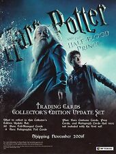 HARRY POTTER AND THE HALF BLOOD PRINCE UPDATE 2009 ARTBOX PROMOTIONAL SELL SHEET
