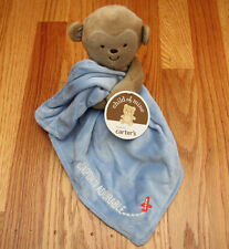 Carter's Child of Mine Baby Boy Security Blanket with Rattle~Captain Adorable ~