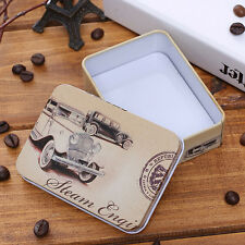 Mini Tin Metal Container Small Rectangle Lovely Storage Box Case B HOTc