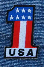 #1 USA SMALL MOTORCYCLE BIKER PATCH from DIXIEFARMER