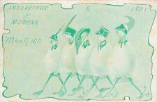 A5641) INCUBATRICE DI MODENA 1907, UMORISTICA DELLA SCUOLA MILITARE. VIAGGIATA.