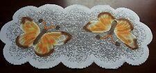 """White doily/table runner avec papillon thème, 30x60cm (12x24""""), nouveau cadeau"""