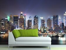 3D Wallpaper Bedroom Mural Roll Modern New York City Night Wall Background Home