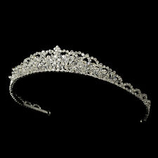 Silver Clear Swarovski Crystal Rhinestone Bridal Wedding Prom Pageant Tiara