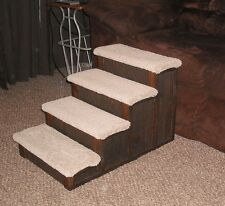 Wood Dog Pet 4 Step stairs 16 inch Many stain choices